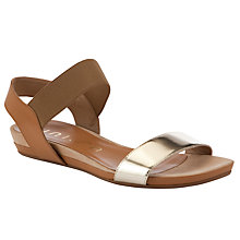 Buy Unisa Aladin Platino Leather Sandals, Tan/Gold Online at johnlewis.com