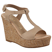 Buy Unisa Memfis Wedge Sandals, Gold/Brown Online at johnlewis.com