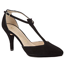 Buy Unisa Peso Suede Court Shoes, Black Online at johnlewis.com