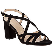 Buy Unisa Mendez Suede Sandals, Black Online at johnlewis.com