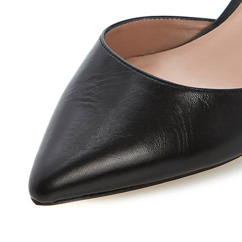 Buy Dune Candelabra Leather Cutaway Court Shoes, Black Online at johnlewis.com