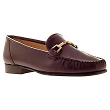 Buy Carvela Mariner Leather Horsebit Loafers, Red Online at johnlewis.com