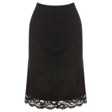 Buy Oasis Lace Pencil Skirt, Black Online at johnlewis.com