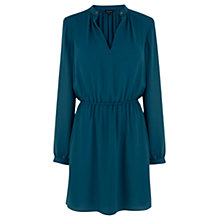 Buy Warehouse Dark Green Quilted Dress, Dark Green Online at johnlewis.com