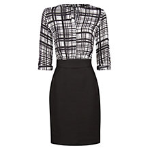 Buy Mango Print Check Combi Dress, Black Online at johnlewis.com