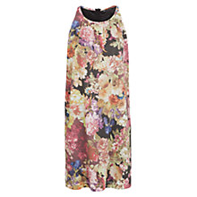 Buy Mango Floral Print Shift Dress, Light Beige Online at johnlewis.com
