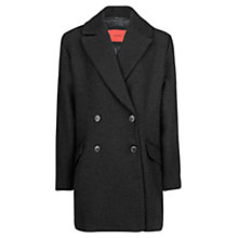 Buy Mango Wool Blend Oversized Coat, Black Online at johnlewis.com