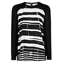 Buy Mango Flowy Stripe Shirt, Black Online at johnlewis.com