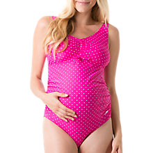 Buy Speedo's Essential Grace U-Back Maternity 1 Piece Swimsuit, Pink/White Online at johnlewis.com