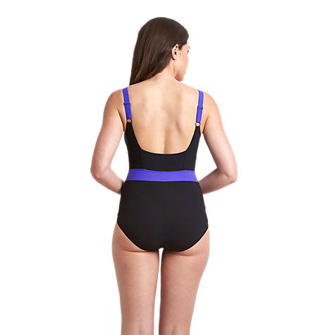 Buy Speedo Women's Sculpture Crystalshine 1 Piece Swimsuit, Black /Purple Online at johnlewis.com