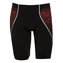 Buy Speedo Endurance+ Pinnacle Kickback Swimshorts, Black/Pink Online at johnlewis.com