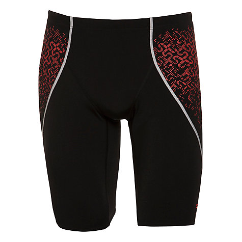 Buy Speedo Endurance+ Pinnacle Kickback Swim Shorts, Black/Pink Online at johnlewis.com