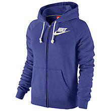 Buy Nike Rally Futura Full Zip Hoodie, Purple Online at johnlewis.com
