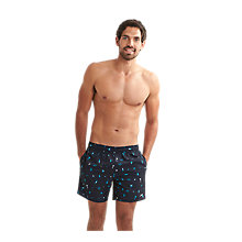 "Buy Speedo Printed 16"" Leisure Watershort Swimshorts, Blue Online at johnlewis.com"