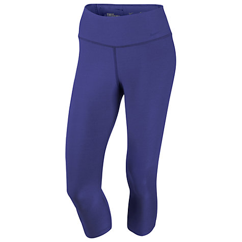 Buy Nike Legend 2.0 Regular Fit Poly Capri Pants, Purple Online at johnlewis.com