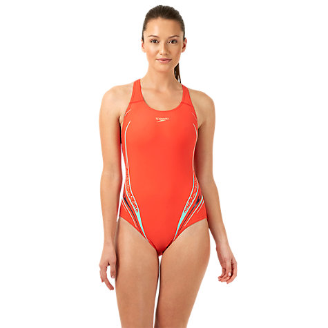 Buy Speedo Placement Powerback Swimsuit Online at johnlewis.com