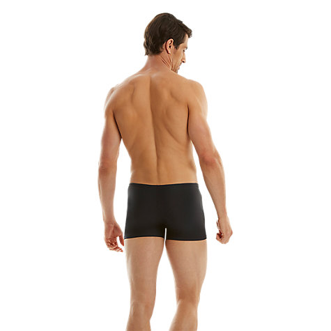 Buy Speedo Essential Aquashort Swim Shorts, Navy/Red Online at johnlewis.com