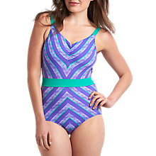 Buy Speedo Aurapool 1 Piece Swimsuit, Purple/Green Online at johnlewis.com