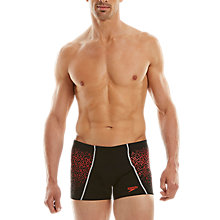Buy Speedo Men's Endurance Speedofit Pinnacle Aquashort Swimshorts, Black/Pink Online at johnlewis.com