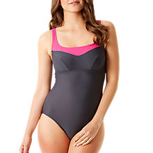 Buy Speedo Women's Essential Jetspa 1 Piece Swimsuit, Grey/Pink Online at johnlewis.com
