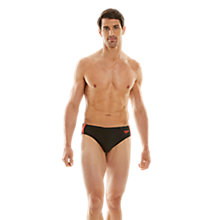 Buy Speedo Endurance 10 Curve 7cm Swim Briefs, Black/Pink Online at johnlewis.com