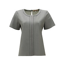 Buy Jigsaw Stretch Flannel Top, Grey Online at johnlewis.com