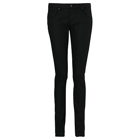 Buy Jigsaw Richmond Coated Jeans, Black Online at johnlewis.com