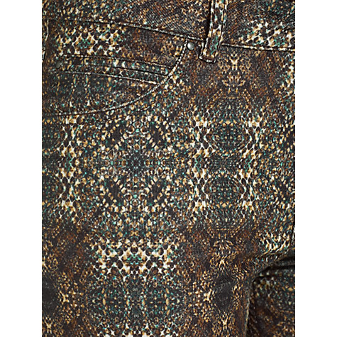 Buy Jigsaw Stretch Cotton Printed Corduroy, Brown Online at johnlewis.com