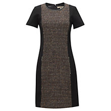 Buy Jigsaw Winter Sparkle Tweed and Ponte Dress, Red Online at johnlewis.com