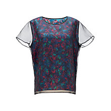 Buy Jigsaw Bloom Print Top, Blue Online at johnlewis.com