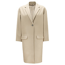 Buy Jigsaw Oversize Coat, Biscuit Online at johnlewis.com