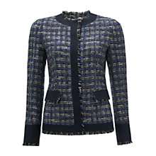 Buy Jigsaw Tweed Jacket, Blueberry Online at johnlewis.com