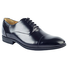Buy Steptronic Leather Oxford Shoes, Black Online at johnlewis.com