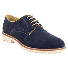 Buy Steptronic Suede Derby Shoes, Navy Online at johnlewis.com