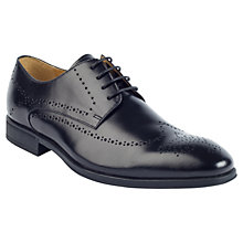 Buy Steptronic Leather Derby Brogue Shoes, Black Online at johnlewis.com