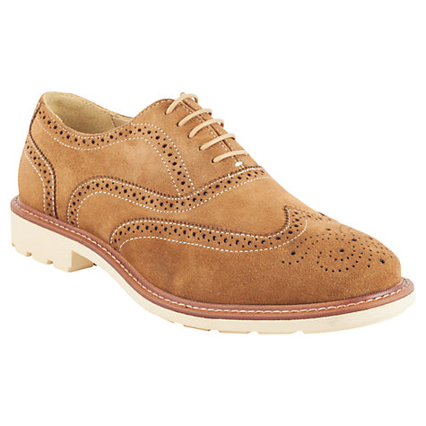 Buy Steptronic Suede Brogue Shoes, Tan Online at johnlewis.com