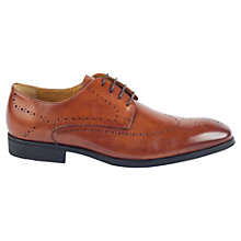 Buy Steptronic Leather Derby Brogue Shoes, Tan Online at johnlewis.com