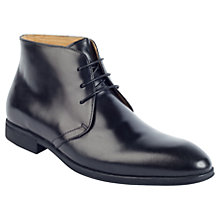 Buy Steptronic Leather Chukka Boots, Black Online at johnlewis.com