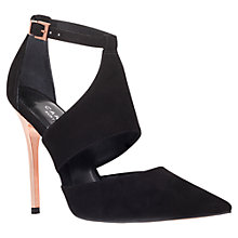 Buy Carvela Gang Suede Suede Cutaway Court Shoes, Black Online at johnlewis.com