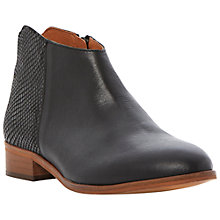 Buy Bertie Pettus Leather Ankle Boots, Black Online at johnlewis.com