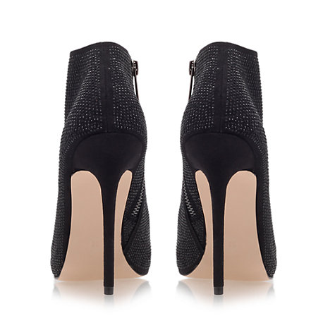 Buy Carvela Giddy Open Toe Shoe Boots, Black Online at johnlewis.com