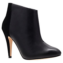 Buy Carvela Katie Leather Mix Ankle Boots, Black Online at johnlewis.com