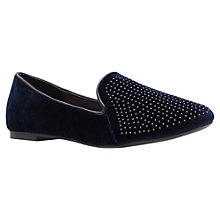 Buy Carvela Maddox Loafer Shoes, Navy Online at johnlewis.com