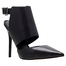 Buy Carvela Gain Leather Slingback Court Shoes, Black Online at johnlewis.com