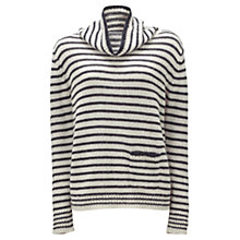 Buy Jigsaw Wool-Blend Stripe Jumper, Blue Online at johnlewis.com