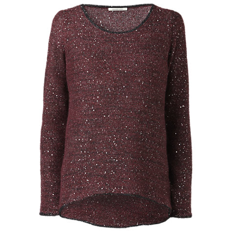 Buy Gérard Darel Flecked Jumper, Burgundy Online at johnlewis.com