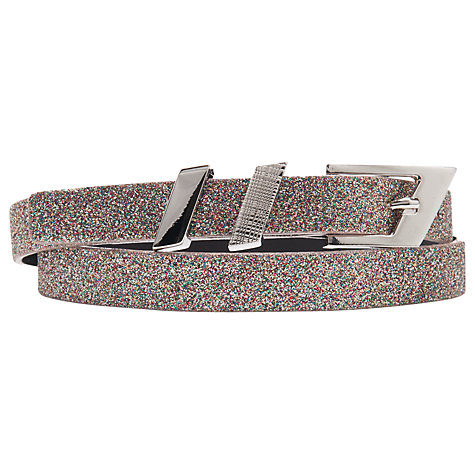 Buy French Connection Victoria Glitter Belt, Multi Glitter Online at johnlewis.com