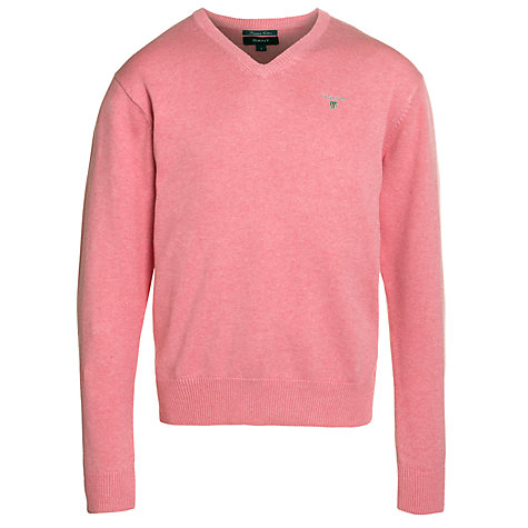 Buy Gant Classic V-Neck Cotton Jumper Online at johnlewis.com