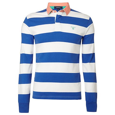 Buy Gant Striped Cotton Rugby Shirt Online at johnlewis.com