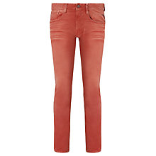 Buy Replay Anbass Slim Tapered Jeans, Red Online at johnlewis.com